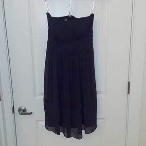Davids Bridal Plum Strapless Dress